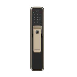 DORMAKABA AS850 指紋/卡片/密碼/鑰匙 四合一電子鎖 香檳金