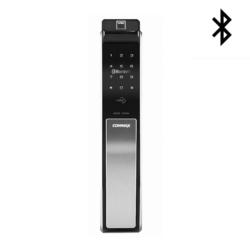 COMMAX康邁世 CDL811B 指紋/卡片/密碼/鑰匙/藍芽 推拉式電子鎖(太空銀)