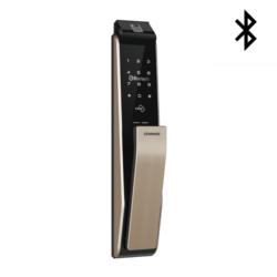 COMMAX 康邁世CDL811B 指紋/卡片/密碼/鑰匙/藍芽 推拉式電子鎖(香檳金)