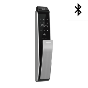 COMMAX康邁世 CDL811B 指紋/卡片/密碼/鑰匙/藍芽 推拉式電子鎖(太空銀) 公司貨